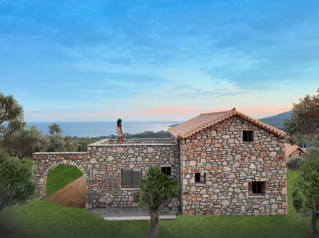 4 Stone Build Villas Gerakada